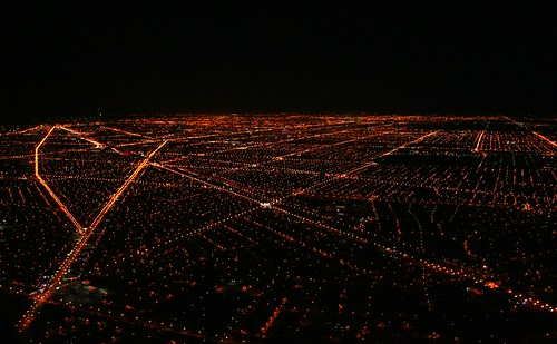 Chicago at night from the air | by Laurence's Pictures