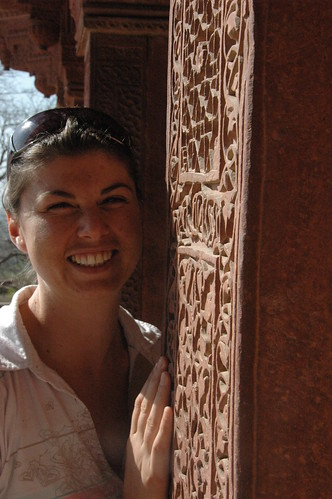 Lorna at The Palace at Fatehpur Sikri | by Louis Rossouw