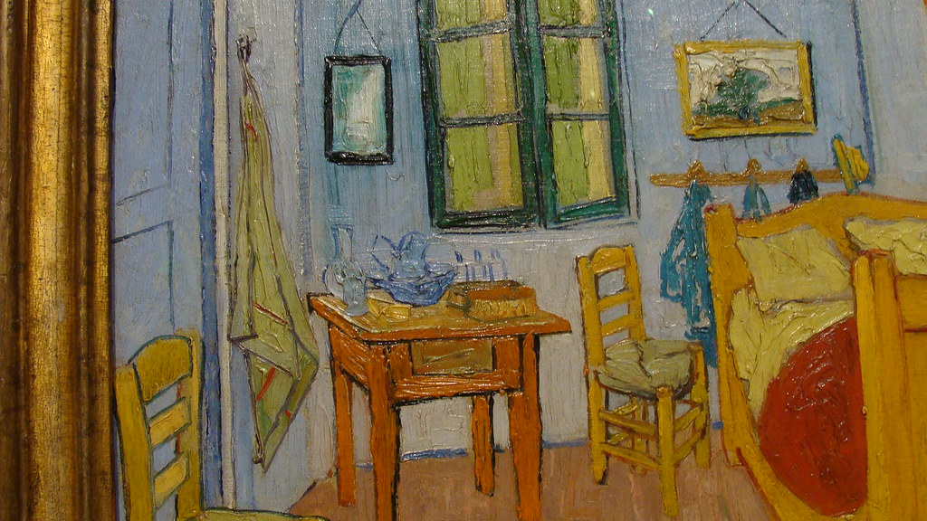 de slaapkamer detail vincent van gogh 1888 by rinuseversen1