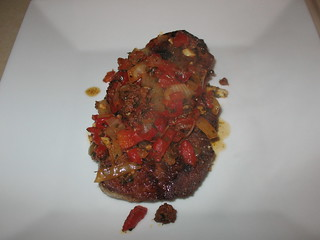Spanish Style Pork Chops with Chorizo and Roasted Red Pepper Sauce ...