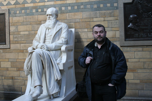 Me and the man, Natural History Museum, London | by Richard Carter