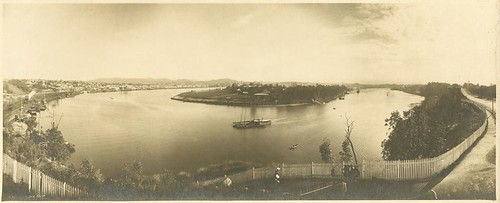 Panoramic view taken from river terrace kangaroo point ov for Queensland terrace state library