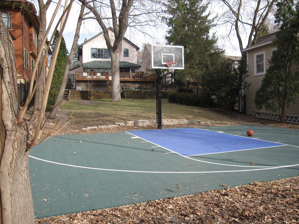 how to make a diy backyard basketball court