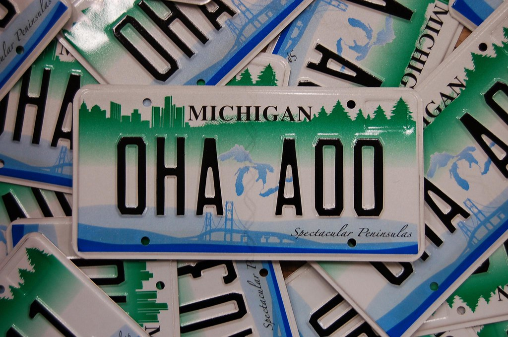 Michigan Spectacular Peninsulas License Plates | The plate i… | Flickr