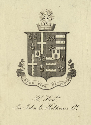 [Bookplate of Sir John C. Hobhouse] | by Pratt Institute Library