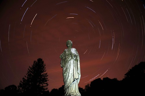 Star Trail in St. Agnes Cemetery, Albany NY | by chuckthewriter