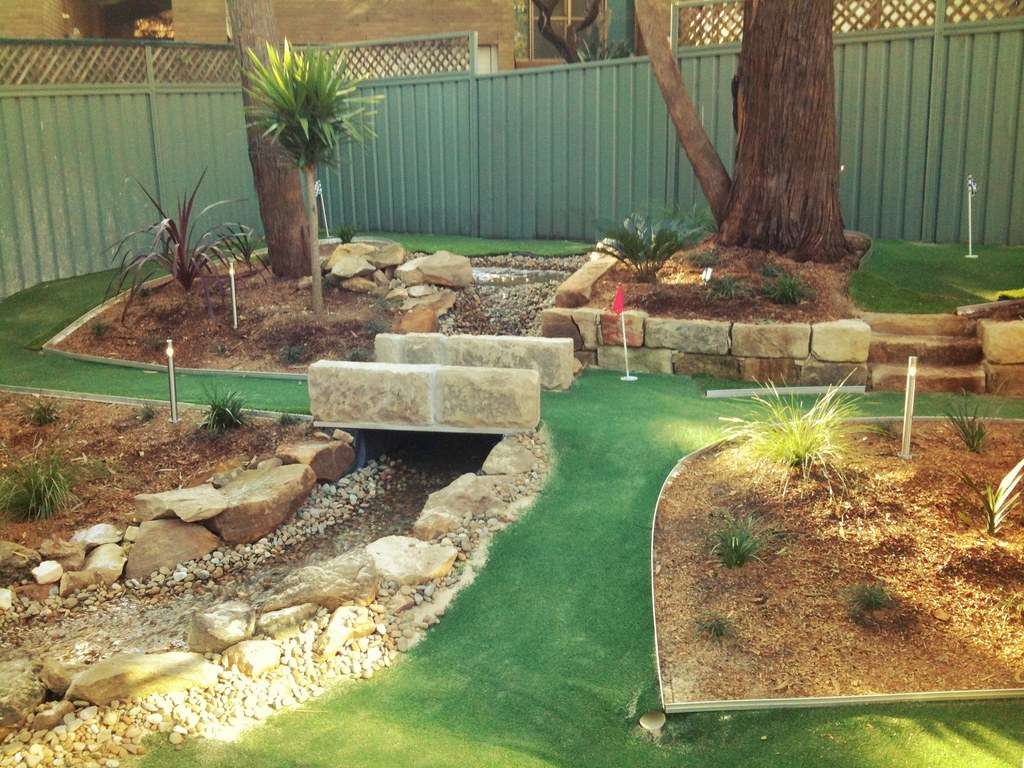 Image result for backyard golf course