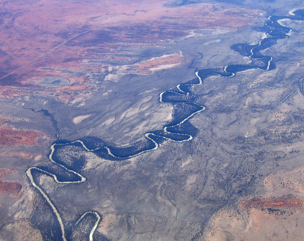 Aerial: The Darling River from 15,000ft