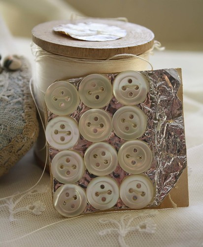 Vintage Mother of Pearl Buttons & Thread | by Betty&Violet