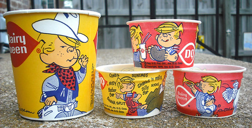 1976 Dairy Queen DQ Dennis the Menace Ice Cream Wax Cups | by gregg_koenig