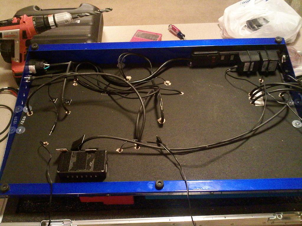 under the board i drilled holes in the board so the wiring flickr rh flickr com wiring under carpet wrangler jk Plug Board