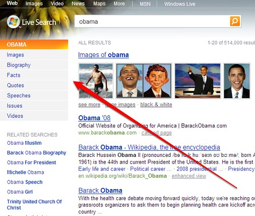 Obama Categories At Bing | by search-engine-land