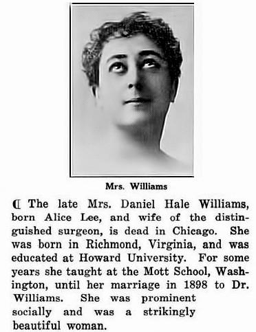 when did daniel hale williams died