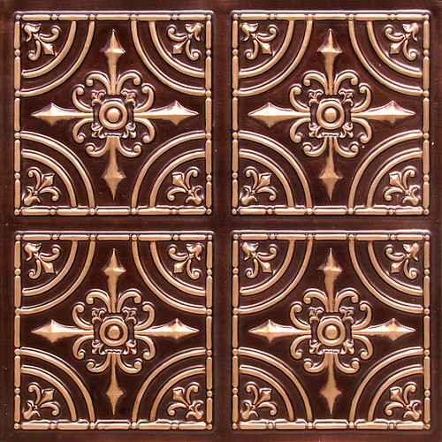205 antique copper faux tin ceiling tile looks like real
