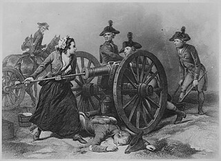 Molly Pitcher at the Battle of Monmouth. June 1778. Copy of engraving by J. C. Armytage after Alonzo Chappel., 1931 - 1932 | by The U.S. National Archives