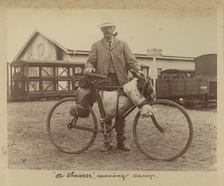 Shearer on the move with his bicycle | by State Library of Queensland, Australia