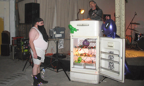 20081115 - SubGenius Baltimore Devival #2 - Stang - preaching, weird guy, bubbles - (by RadioFreeMountairy@Flickr) - 3035653342_f9f304c5de_o | by Clio CJS
