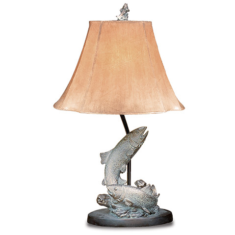 vintage verandah table lamps l7077lazs fish table lamp sportsman s paradise your 6877