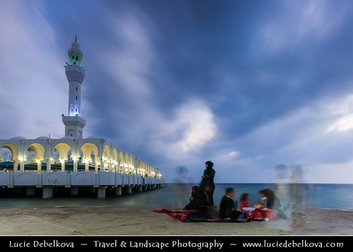 Saudi Arabia - Evening prayer at Floating Mosque in Jeddah | by © Lucie Debelkova / www.luciedebelkova.com