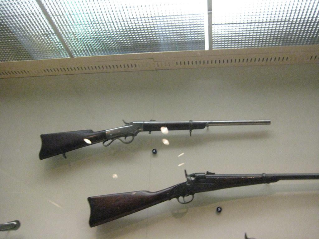 Two Civil War Carbines | Top: Burnside Carbine c  1862, 3rd