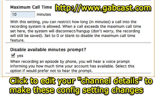 ... Gabcast permits max call time and available minutes prompt - by Wesley Fryer