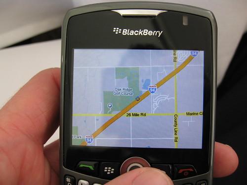 Google maps on blackberry curve