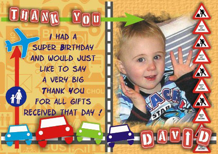 scrapbook birthday thank you card  made for a friends littl…  flickr, Birthday card