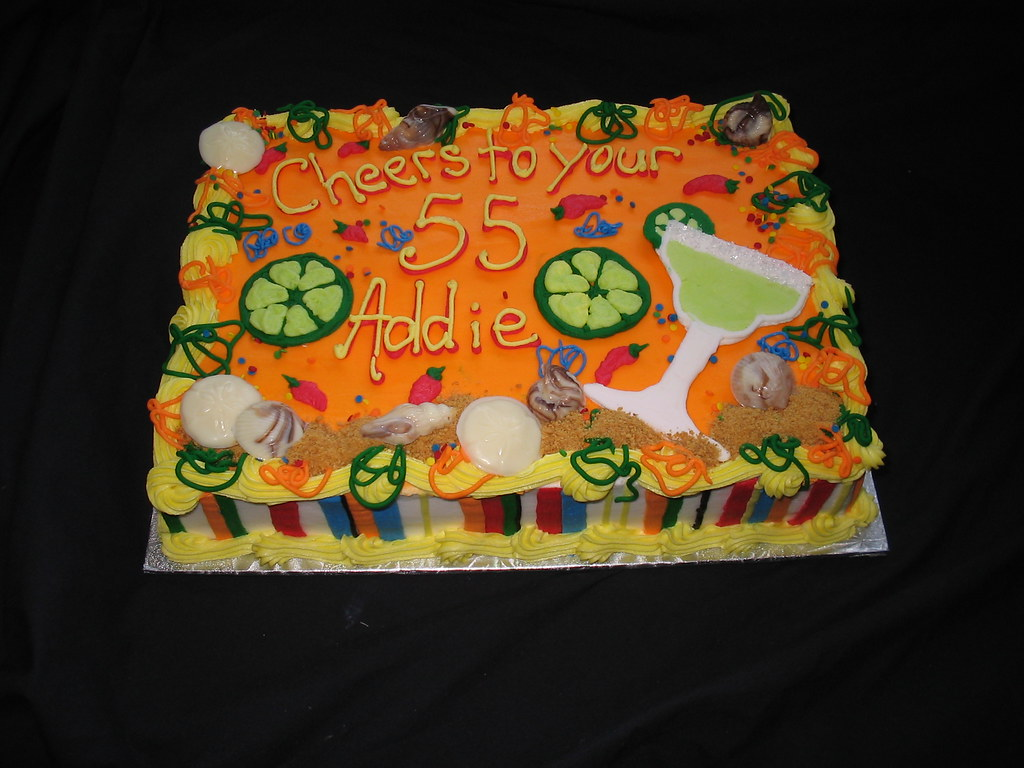 Mexican Margarita and beach theme sheet cake Giggys Cakes and