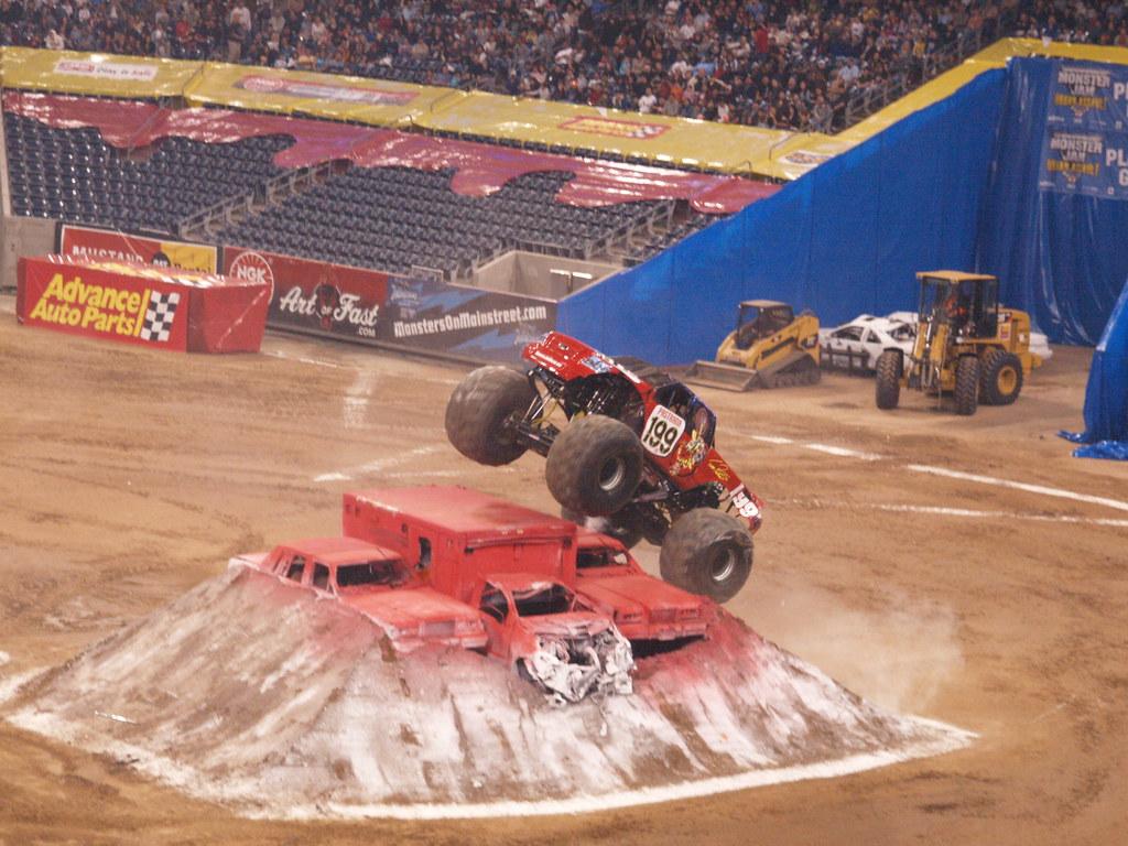 Houston Texas Reliant Stadium Ultimate Monster Jam Freesty Flickr - Monster car show houston tx