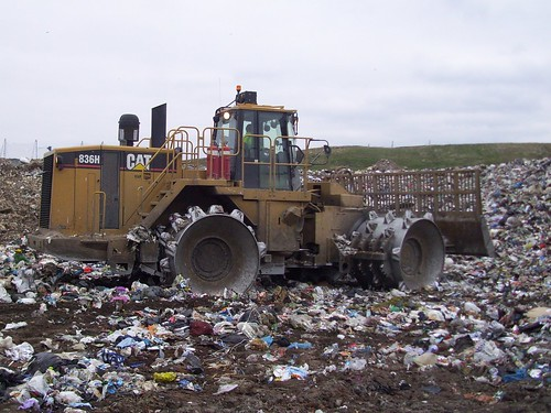 Landfill Compactors Garbage Pictures : Cat h landfill compactor aduffy flickr