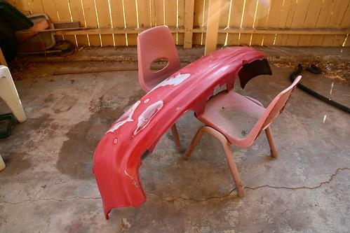 Sanding Car For Paint Job