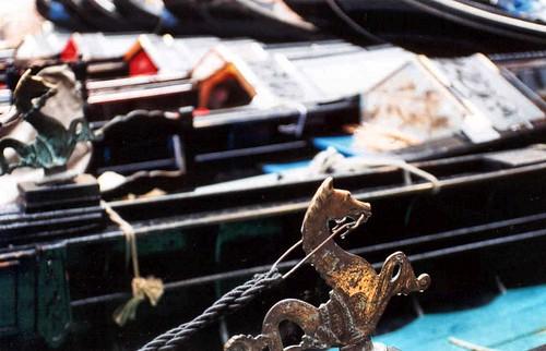 Venice, detail on a gondola