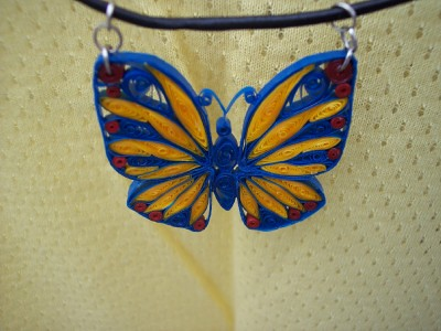 Butterfly Pendant closeup | by joanscrafts