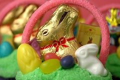 Lindt Chocolate Bunny Basket | by Bakerella