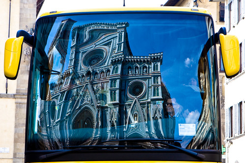 Firenze Duomo in Bus Windshield | by eMergent
