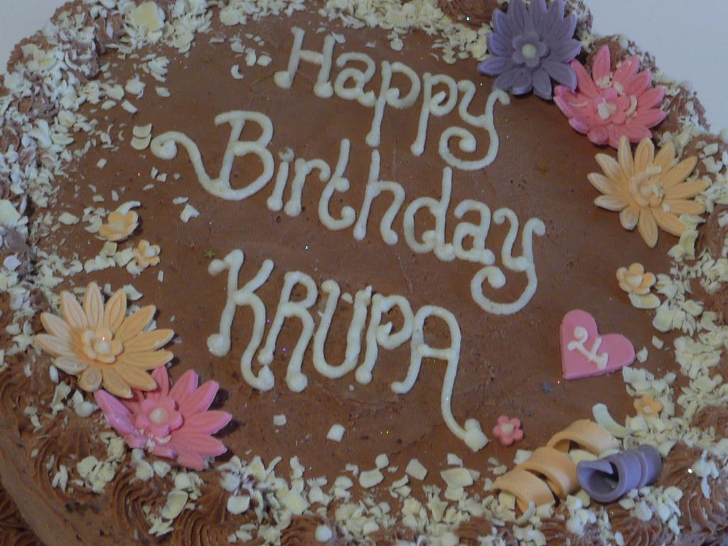 Traditional Birthday Cake Straightforward Happy Birthday Flickr