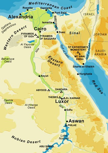 Ancient Egypt City Map | This map shows most of the cities a… | Flickr