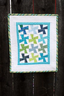 Mini quilt on fence 2 | by turning*turning