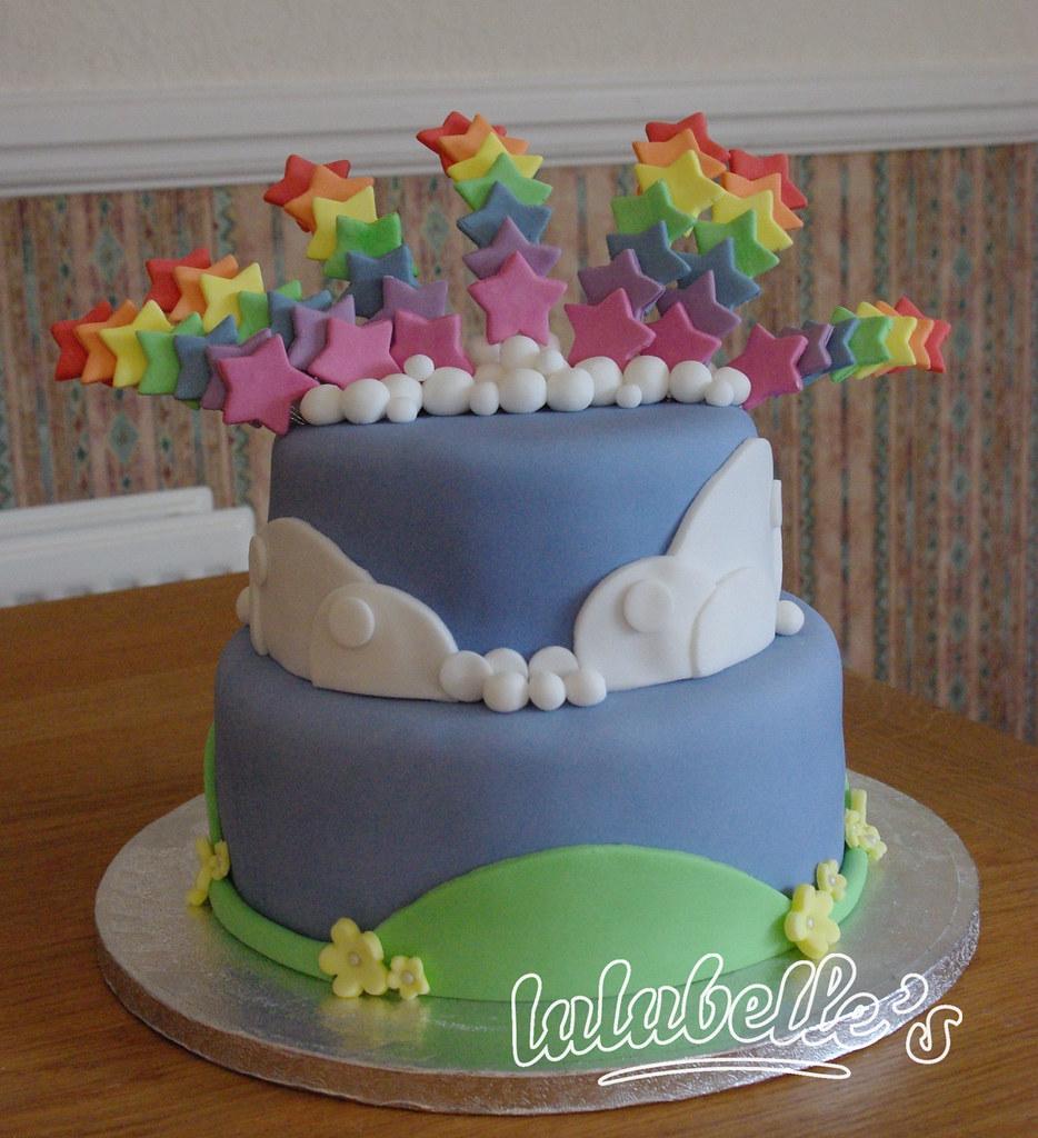 Rainbow Stars Stacked Birthday Cake Louisa Harman Flickr