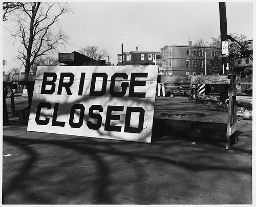 Bridge Closed Sign, Beacon Street Railroad Bridge | by MIT-Libraries
