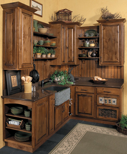 Rustic Kitchen Cabinets - StarMark Cabinetry | This kitchen … | Flickr