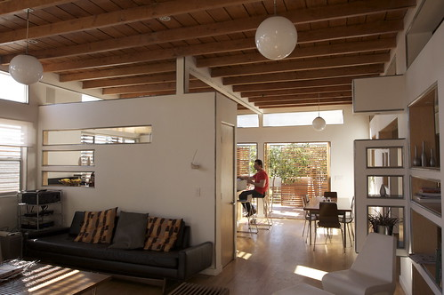 Vaulted Living Room Ceiling With Beams