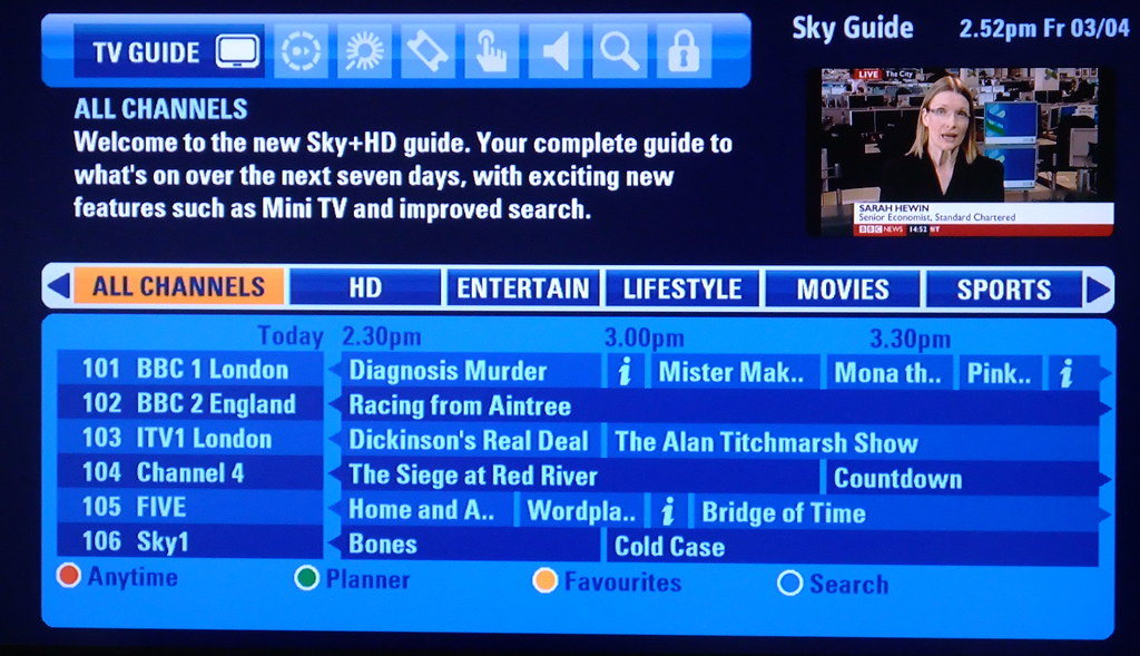Image result for sky go tv guide