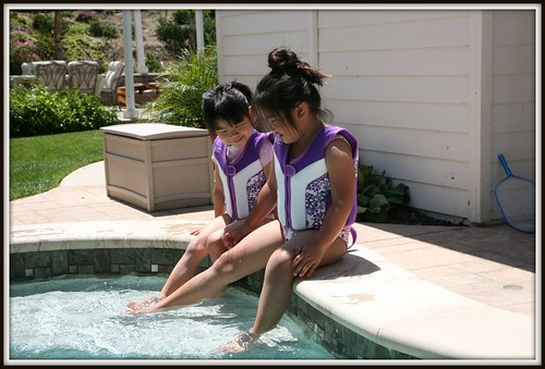 Maddy and Gwen in their new pool! | by Donna & Andrew
