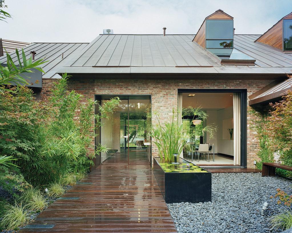 Austin Modern Lake House- Entry Courtyard   peninsula.bcarc.…   Flickr