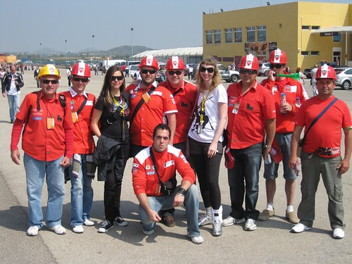 Suz n Britt with the Ducati construction crew | by pinkyracer