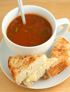 Tomato and Quinoa Soup with Grilled Cheese Sammich | by Nook & Pantry