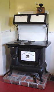 """Country Charm"" stove in our kitchen 
