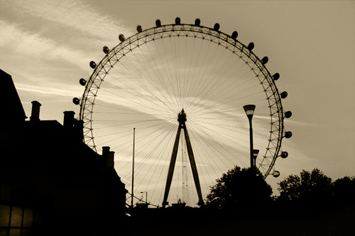 London Eye Silhouette