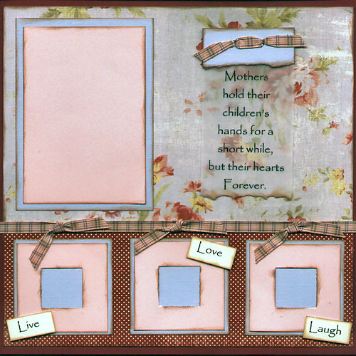 mother s day pre made scrapbook page another 12x12 inch flickr